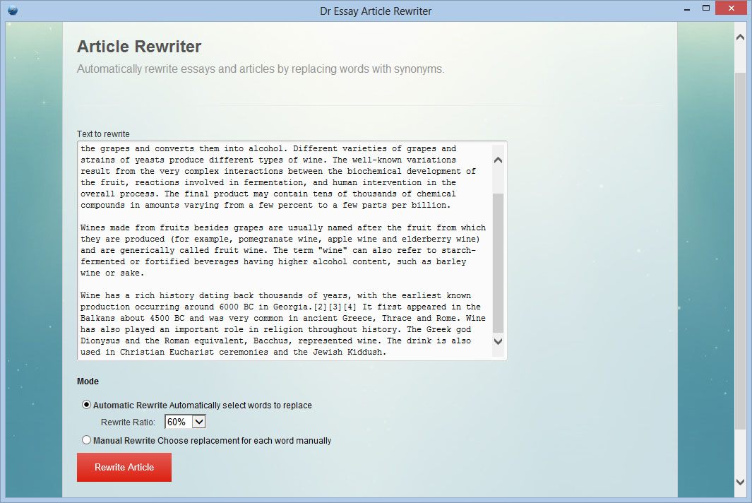 Essay rewriter software
