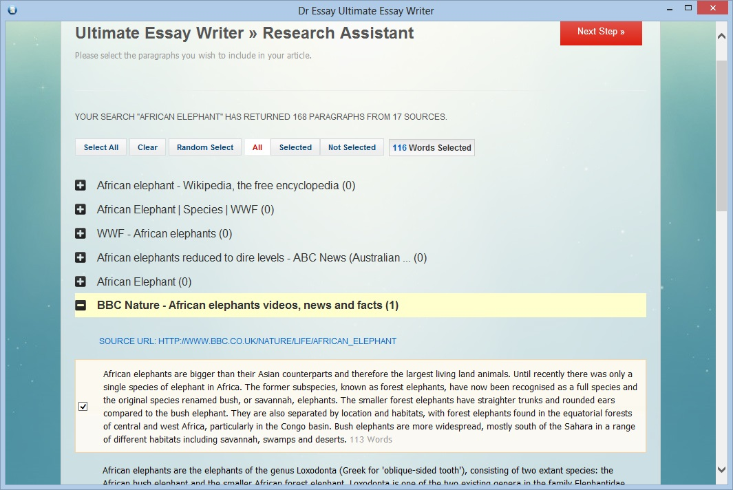 Online help for writing papers