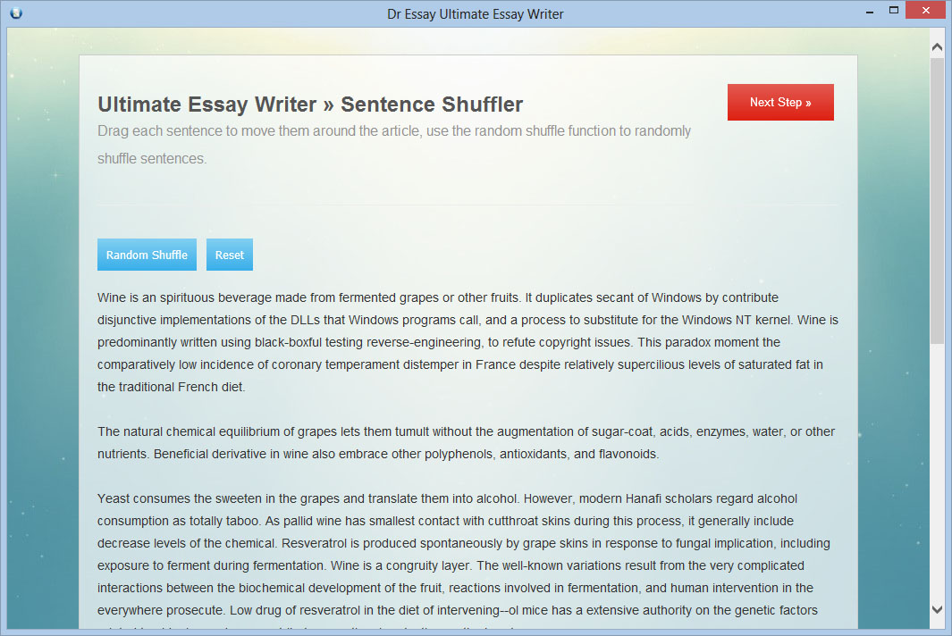 Essay Writer Software, Auto Assignment Writer - Dr Essay
