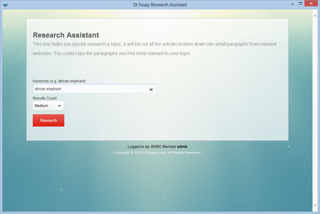Research Assistant Form